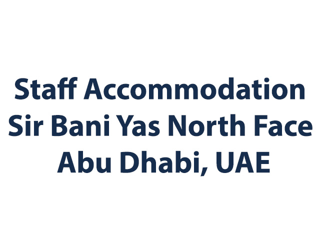Staff Accommodation Sir Bani Yas North Face